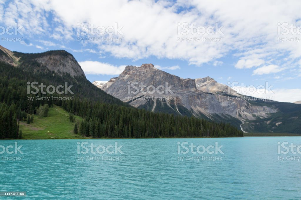 Emerald Lake Emerald Lake in the Yoho National Park Canada Adventure Stock Photo