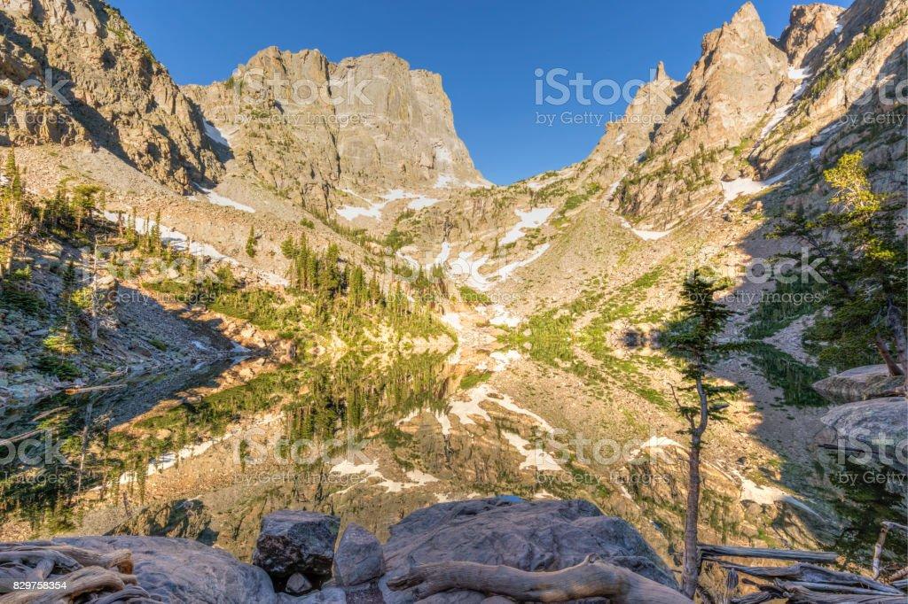 Emerald Lake Reflections stock photo