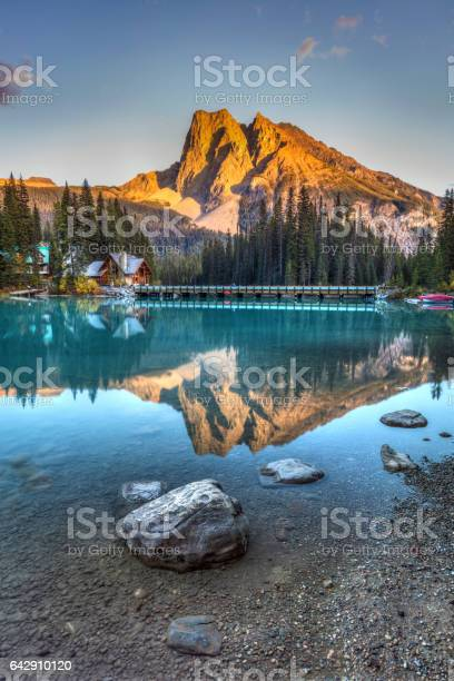 Emerald Lake Sunset Stock Photo - Download Image Now