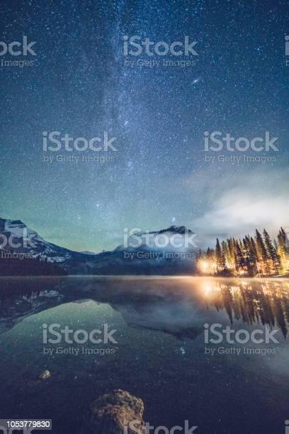 Emerald lake with illuminated cottage under milky way picture id1053779830?b=1&k=6&m=1053779830&s=612x612&h=xo719ai8d1nonmcqovdcqztwnrhu6yhospmw50eogzc=