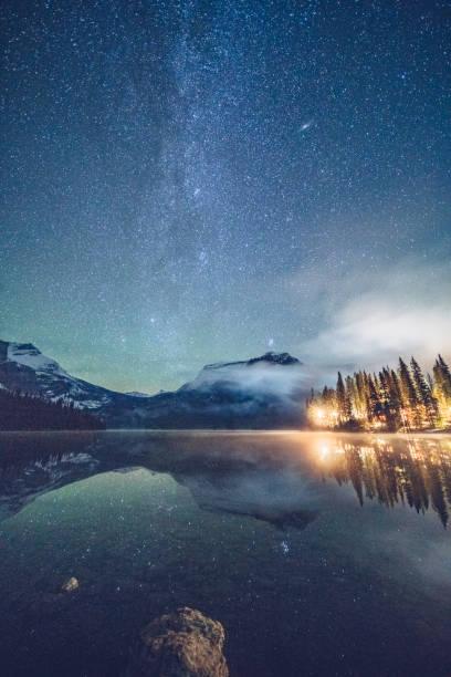 Emerald lake with illuminated cottage under milky way picture id1053779830?b=1&k=6&m=1053779830&s=612x612&w=0&h=wycfwrdlm8mdczdijcb46rncaqmd7uxyrokg6fneyye=