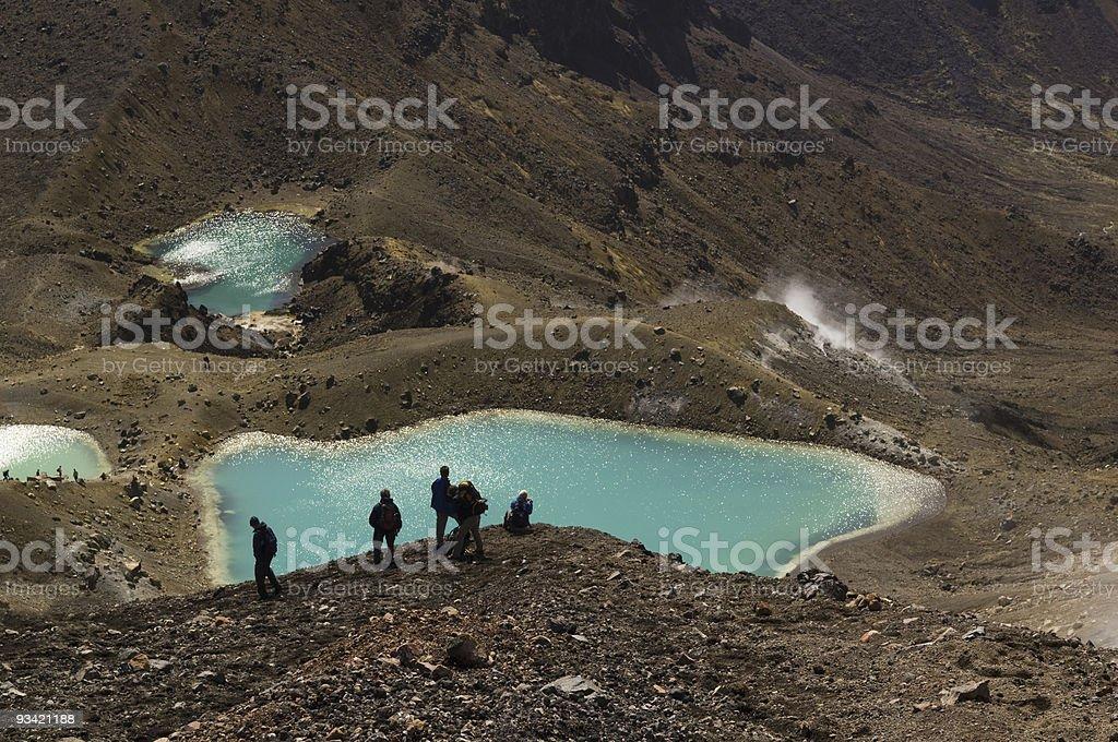 Emerald Lakes View I stock photo
