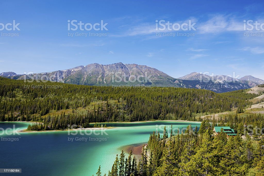 Emerald Lake,Yukon Canada stock photo