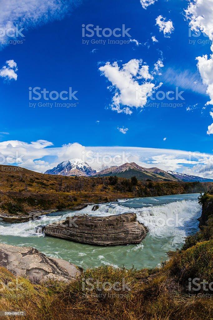 Emerald Paine river stock photo