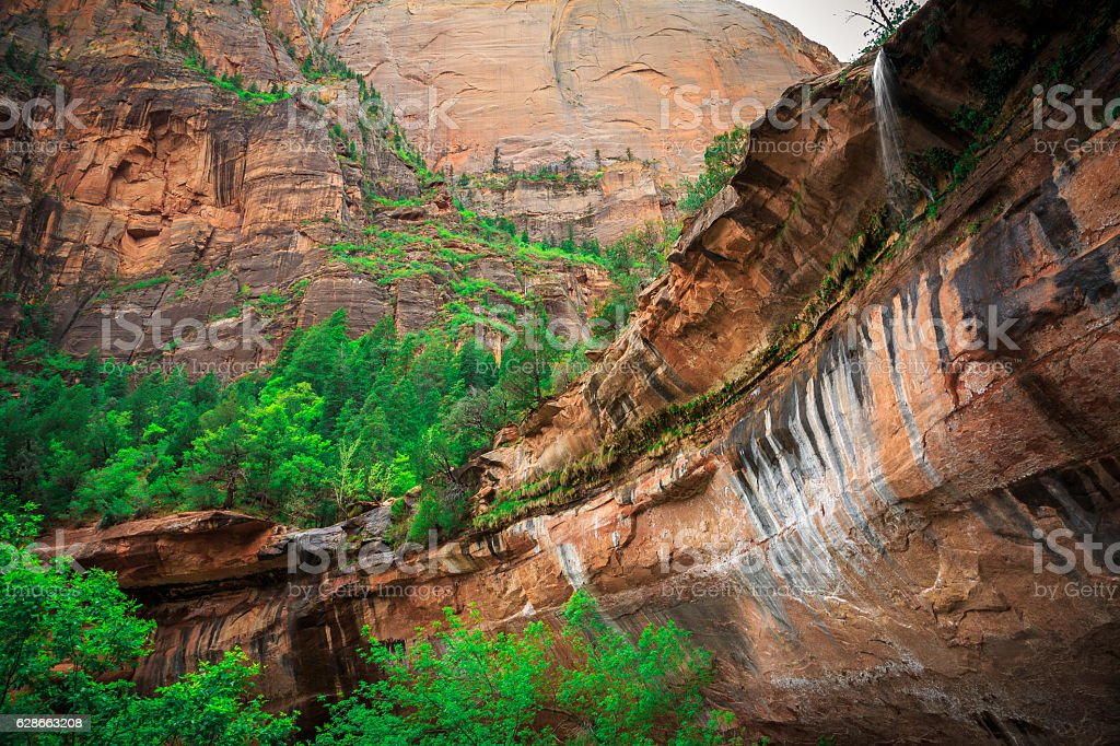 Emerald Pool Falls, Zion National Park, Utah stock photo
