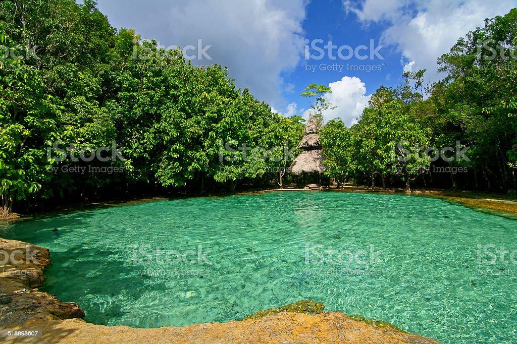 Emerald pool stock photo
