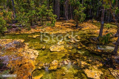 istock Emerald Pool, Yosemite National Park, Krabi, Thailand, Dried riv 1063342782