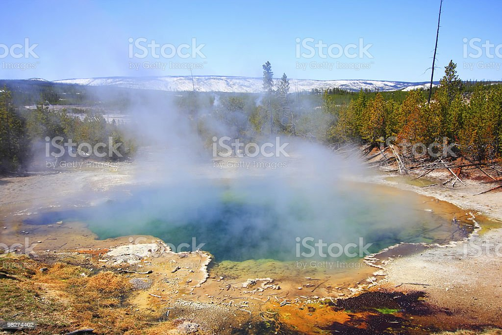 Emerald Spring, Yellowstone royalty-free stock photo
