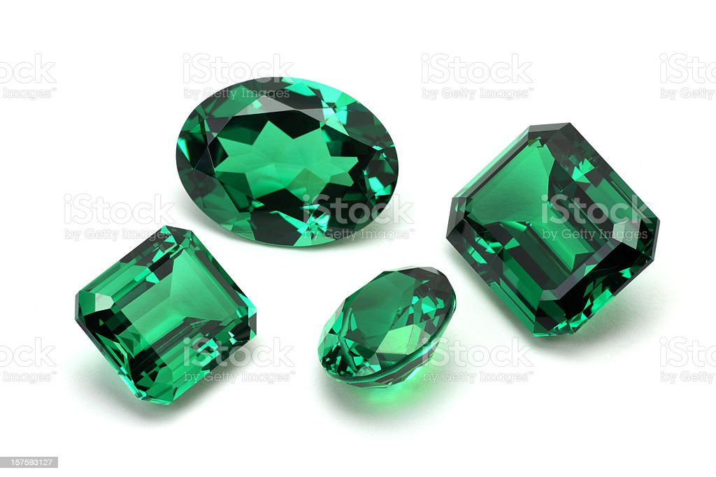 Emerald Stone stock photo