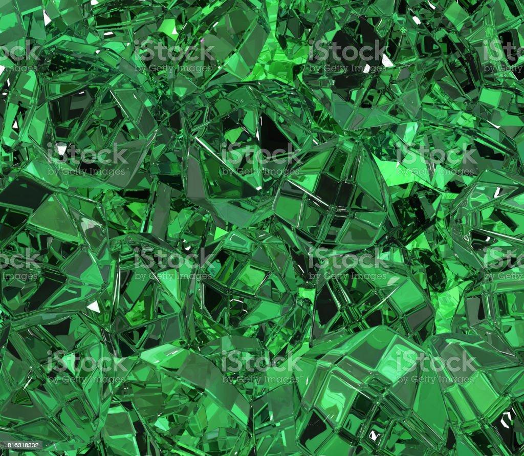 Emerald Surface stock photo