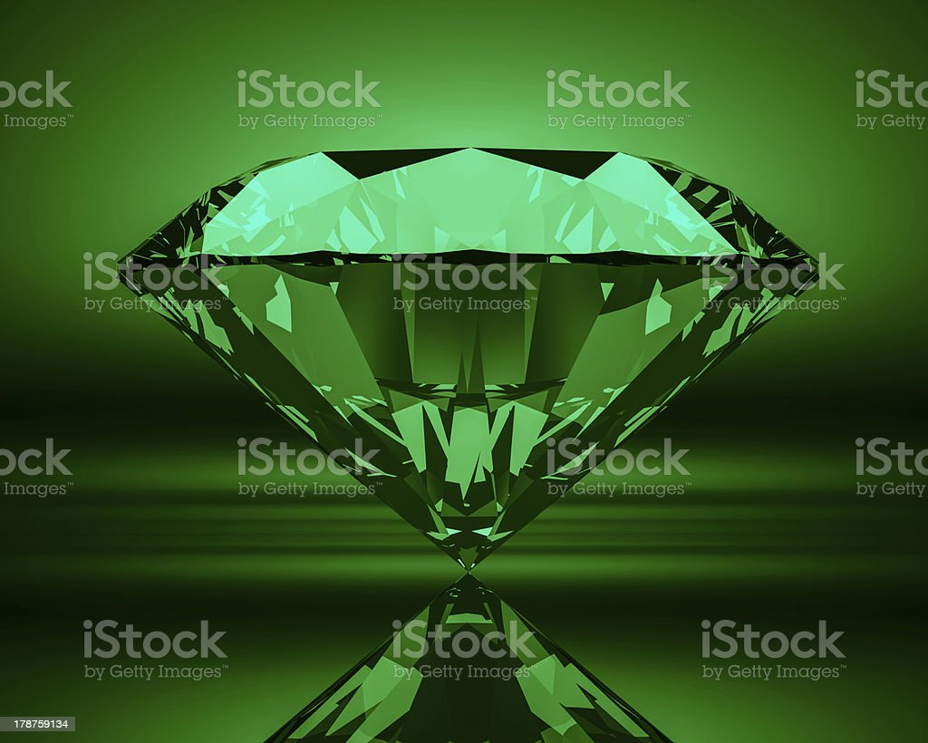 Emerald XL stock photo