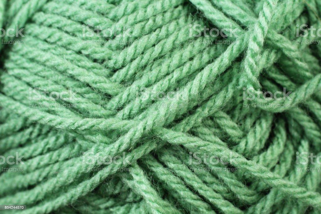Emerald Yarn Texture Close Up stock photo