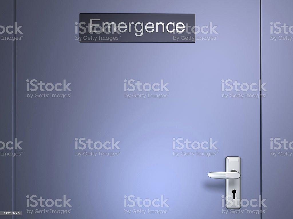 Emergence door royalty-free stock photo