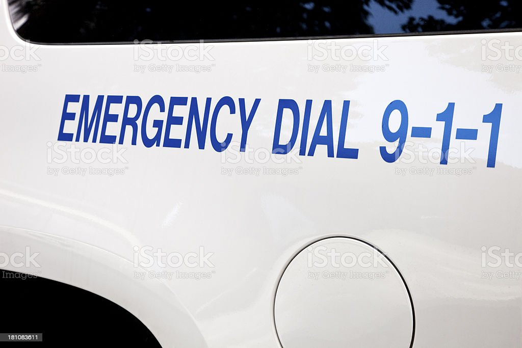 Emergency 911 stock photo