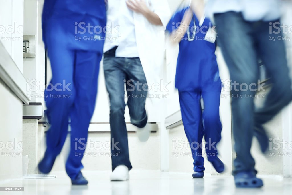Emergency action royalty-free stock photo