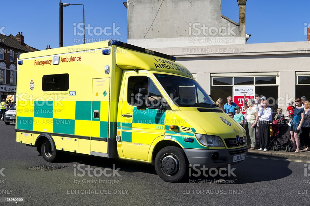 Emergency ambulance stock photo