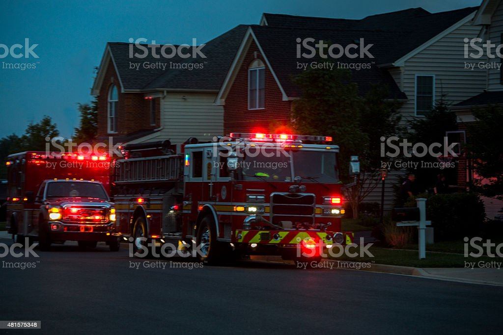 Emergency assistance arrived stock photo