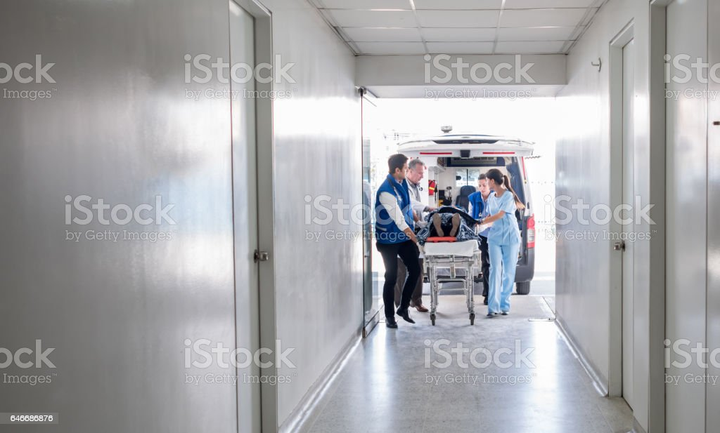 Emergency at the hospital - foto stock