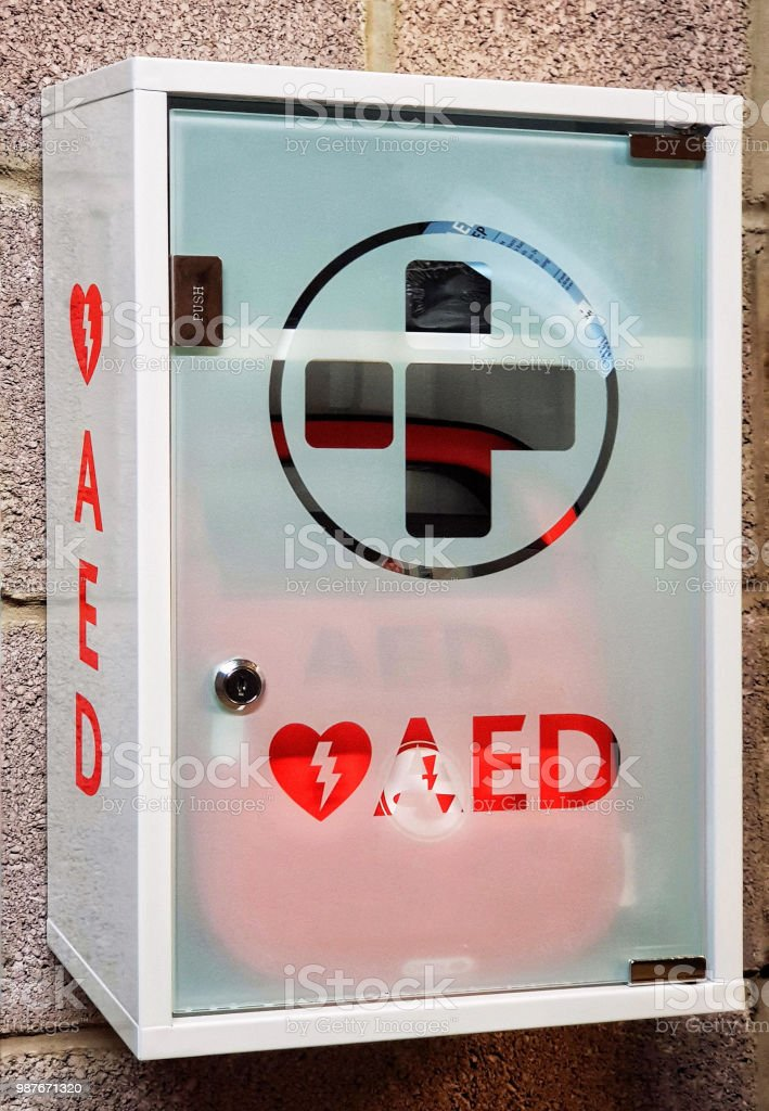 AED - Emergency Automated External Defibrillator stock photo