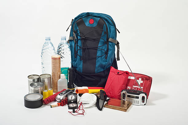 emergency backpack  accidents and disasters stock pictures, royalty-free photos & images