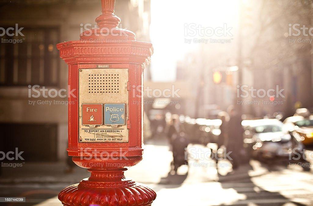 Emergency box on the street. royalty-free stock photo