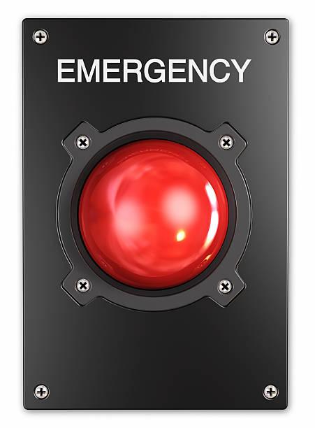 Botón de emergencia. - foto de stock