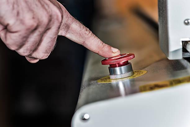 Botón de emergencia - foto de stock