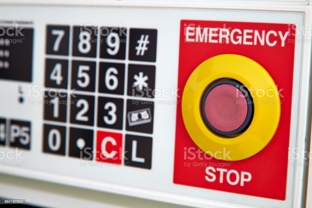 emergency button stock photo