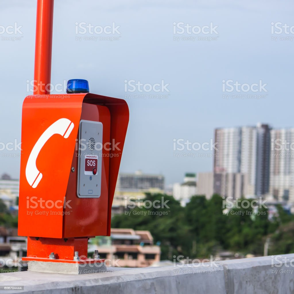 Emergency Call Box Stock Photo - Download Image Now