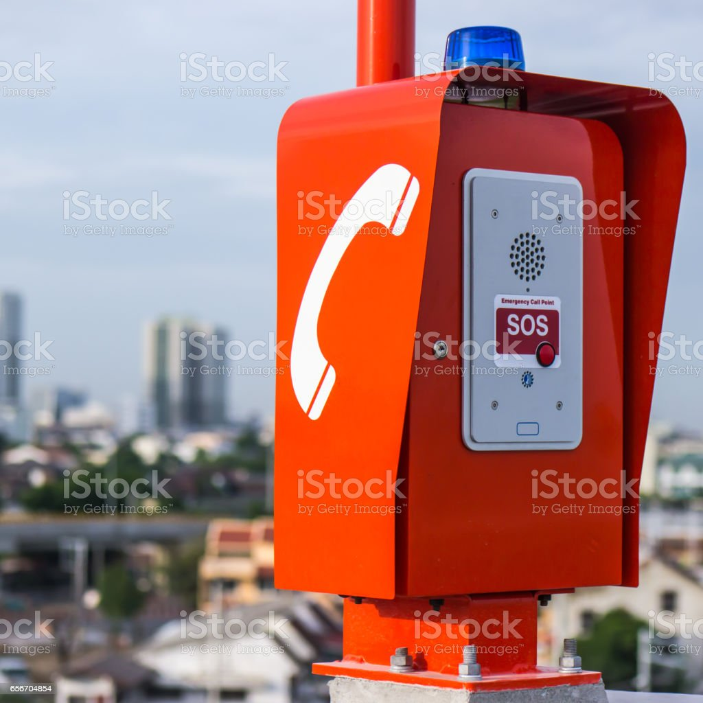 Emergency Call Box Stock Photo - Download Image Now - iStock