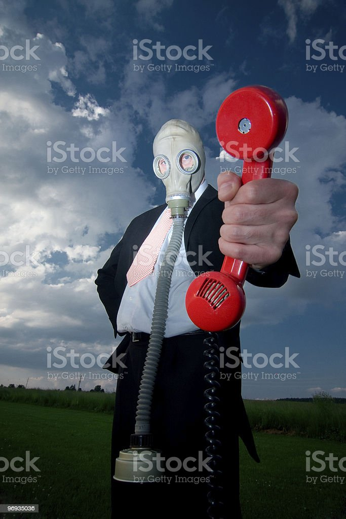 Emergency call from nature royalty-free stock photo