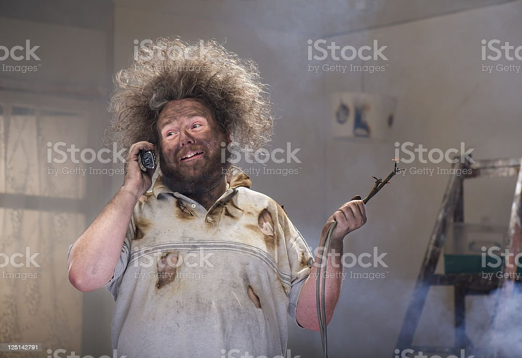 DIY emergency call stock photo