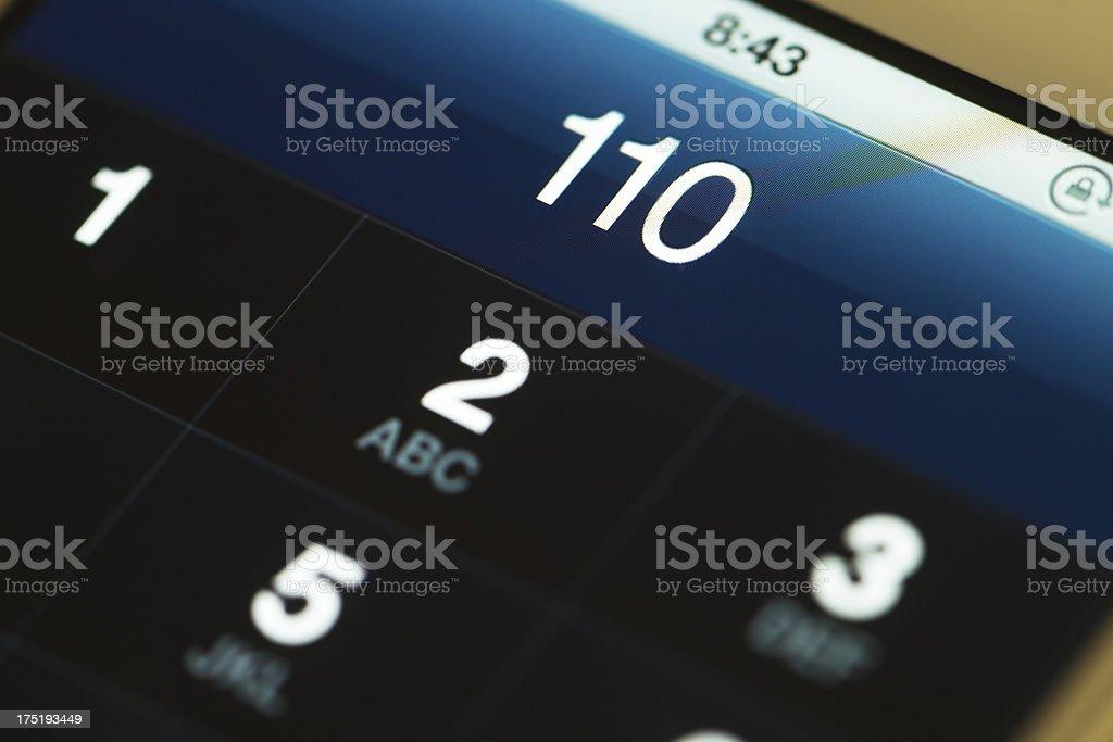 emergency call stock photo