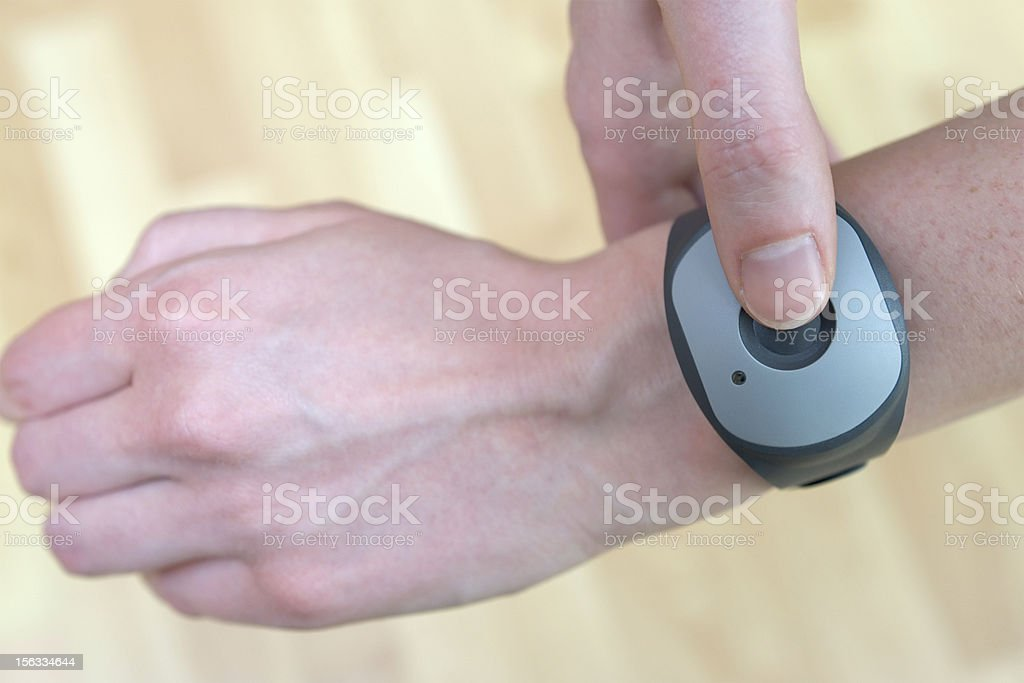 Emergency call system - Push the button for professional help stock photo