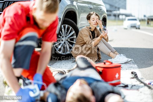 istock Emergency care after the road accident 1162275099