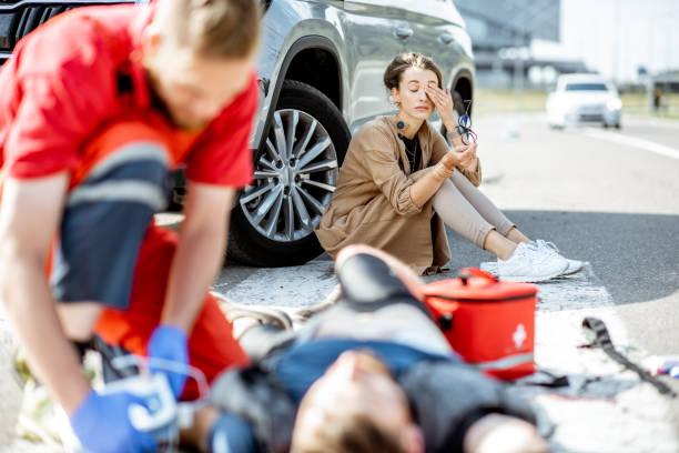 Notfallversorgung nach dem Verkehrsunfall – Foto