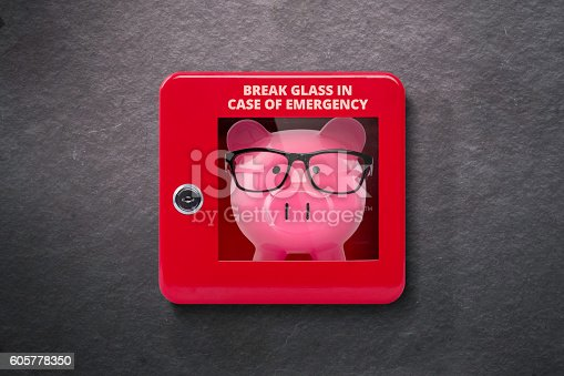 istock Emergency case with break away glass 605778350