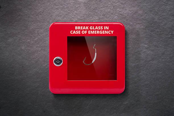 Emergency case with break away glass - foto de stock