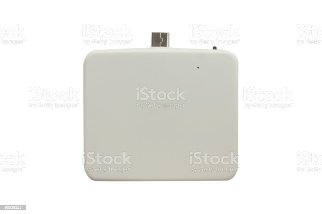 emergency charger li-polymer battery isolated on white background. royalty-free stock photo