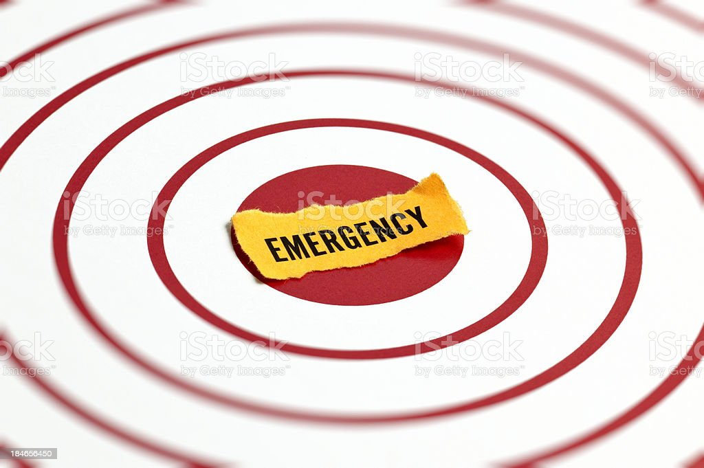 Emergency Concept royalty-free stock photo