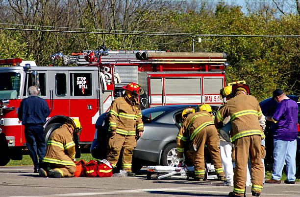Emergency Crew on the Scene stock photo