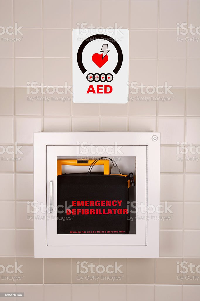 Emergency Defibrillator in a Wall Case​​​ foto