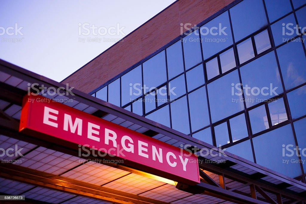 Emergency Department An emergency department sign. Emergency Room Stock Photo