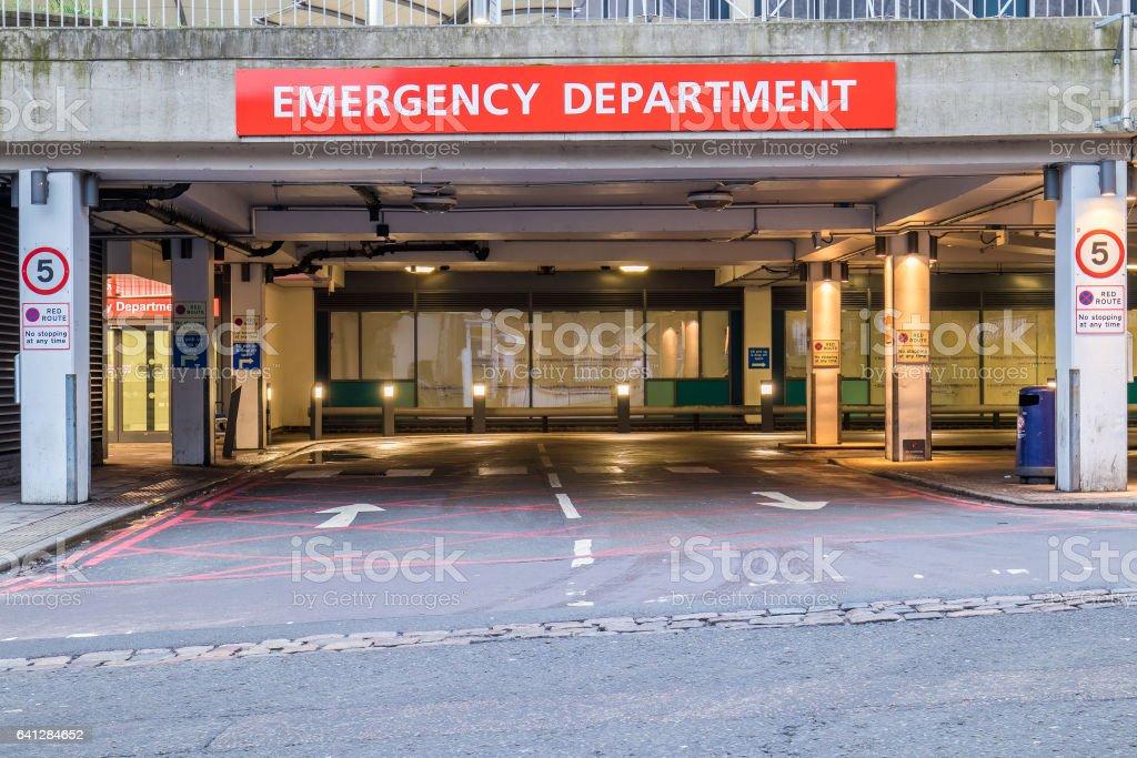 Emergency department stock photo