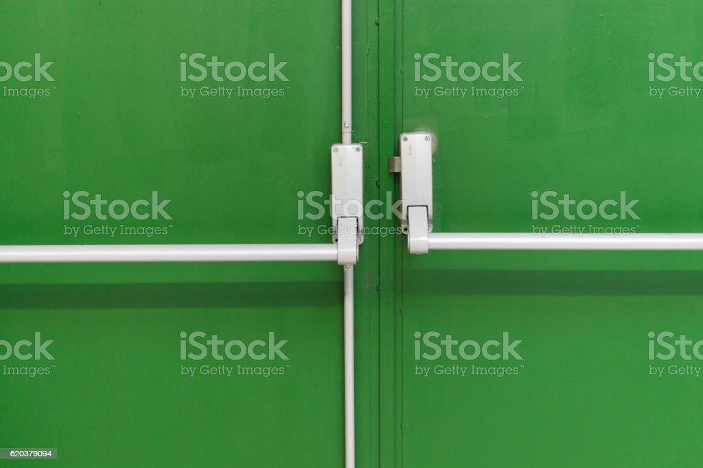 Drzwi awaryjne zbiór zdjęć royalty-free