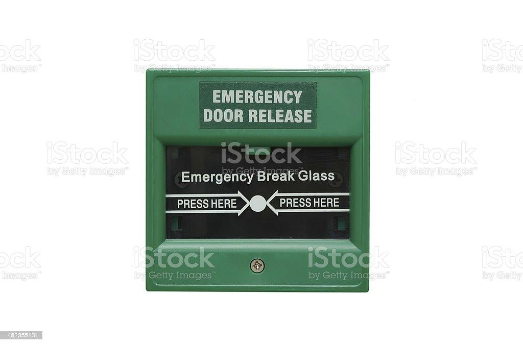 emergency door release stock photo