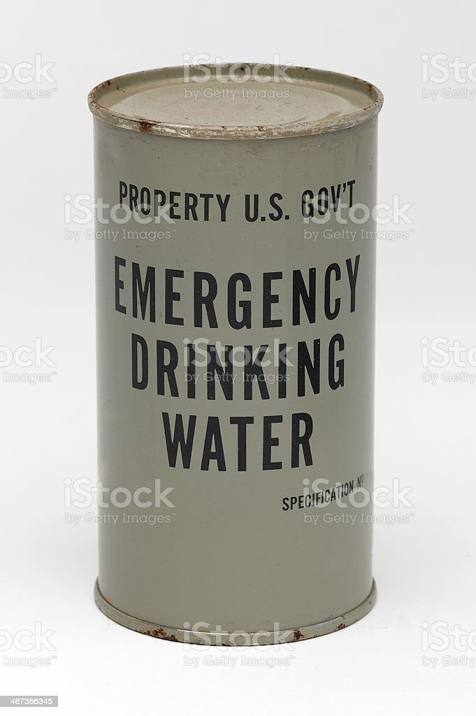 Emergency Drinking Water royalty-free stock photo