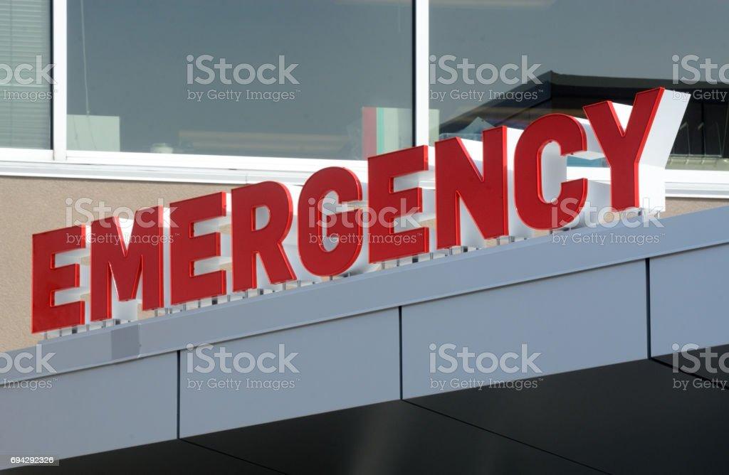 Emergency entrance sign foe small hospital