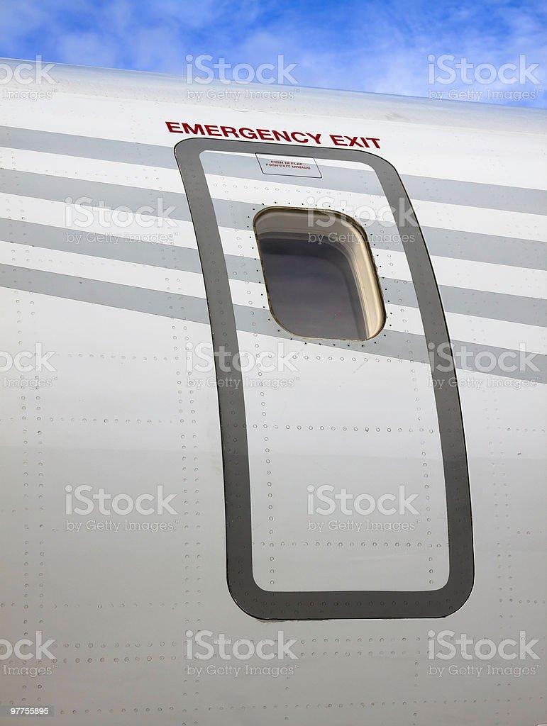 Emergency Exit Door on a Regional Jet XL royalty-free stock photo & Emergency Exit Door On A Regional Jet Xl stock photo | iStock