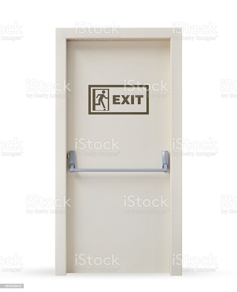 Emergency Exit Door royalty-free stock photo